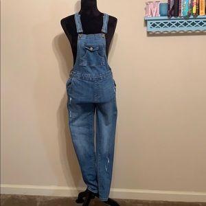 Zara girls jean overalls